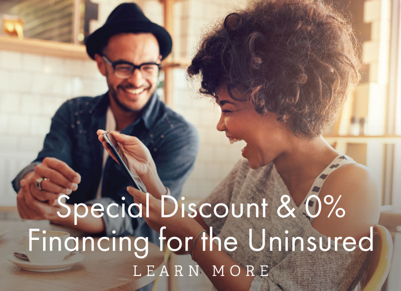 Special Discount and 0% Financing for the Uninsured